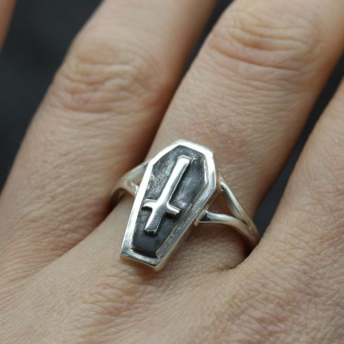 Silver Coffin Ring
