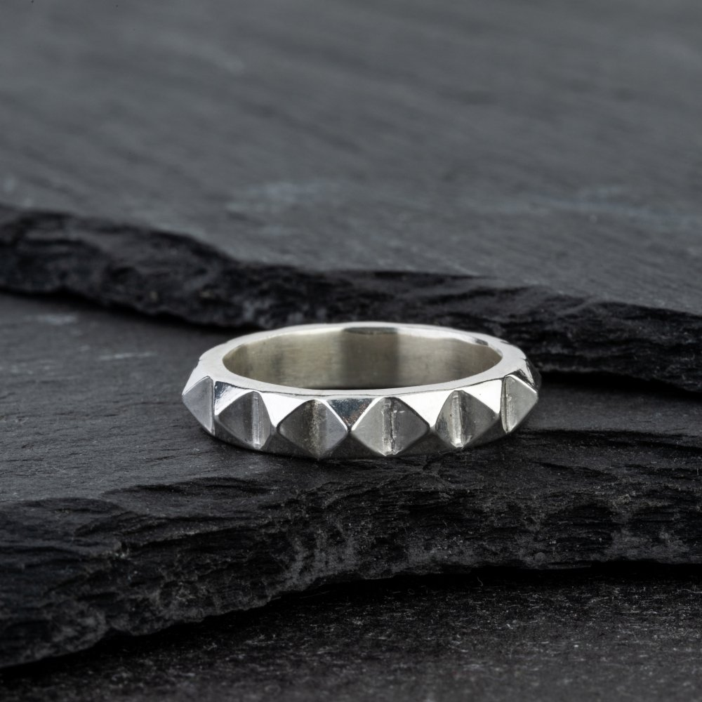 Silver Studded Band