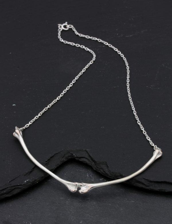 Silver Bone Necklace