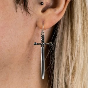 Gothic Sword Earrings