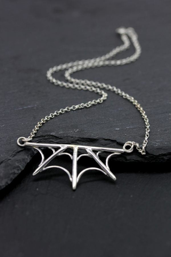Gothic Spider Web Necklace