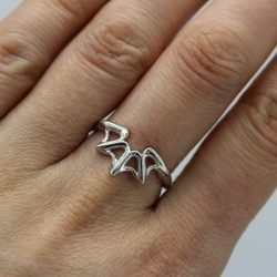 Silver Spider Web Ring